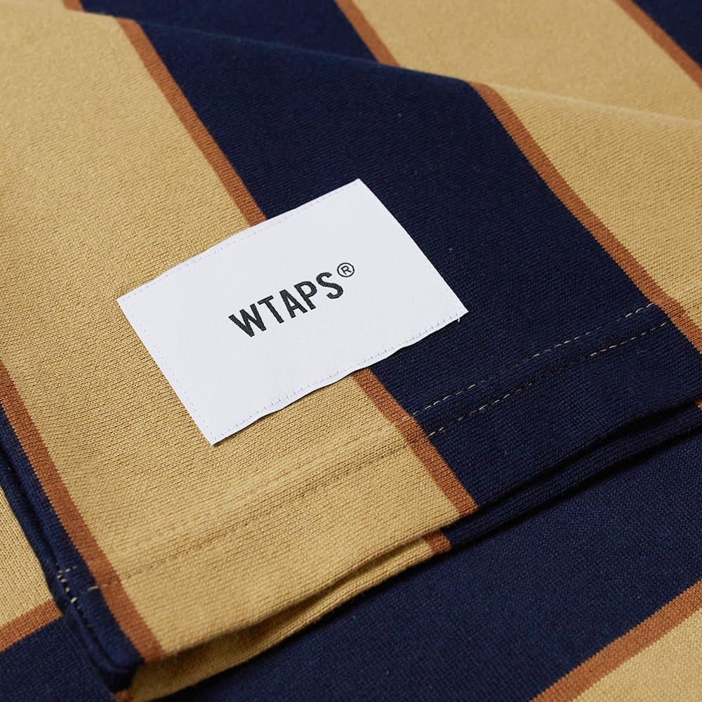 WTAPS Long Sleeve Peace Virtical Stripe Tee - Navy