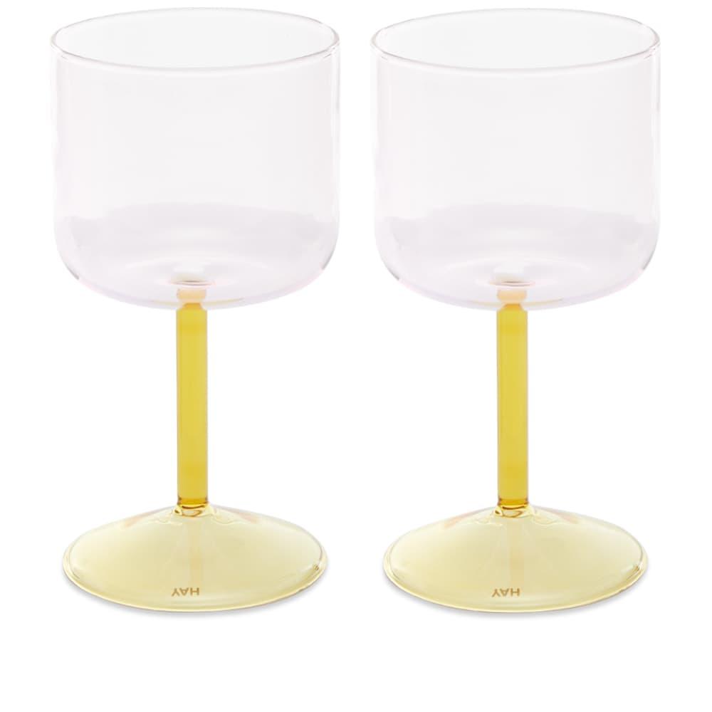 HAY Tint Wineglass - Set Of 2 - Pink & Yellow