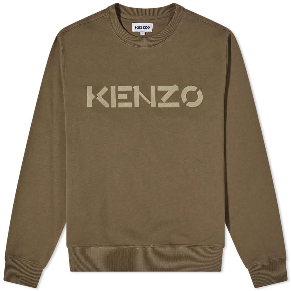 Kenzo Bi-Colour Logo Crew Sweat - Bronze