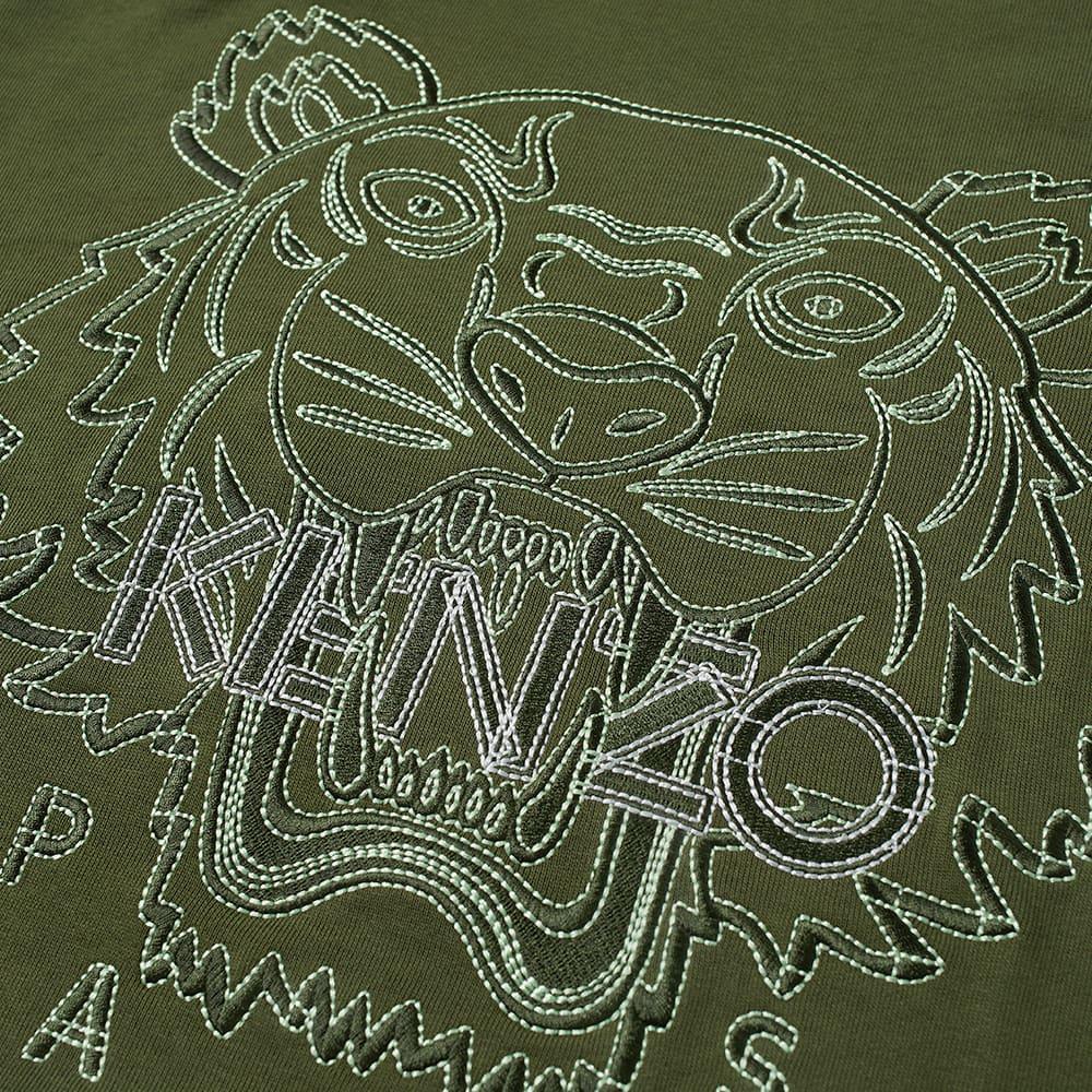 Kenzo Actua Tiger Crew Sweat - Dark Khaki