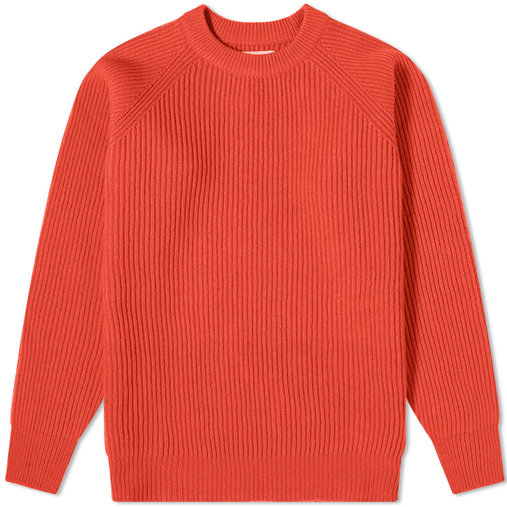 Albam Seamless Ribbed Crew Sweat - Red