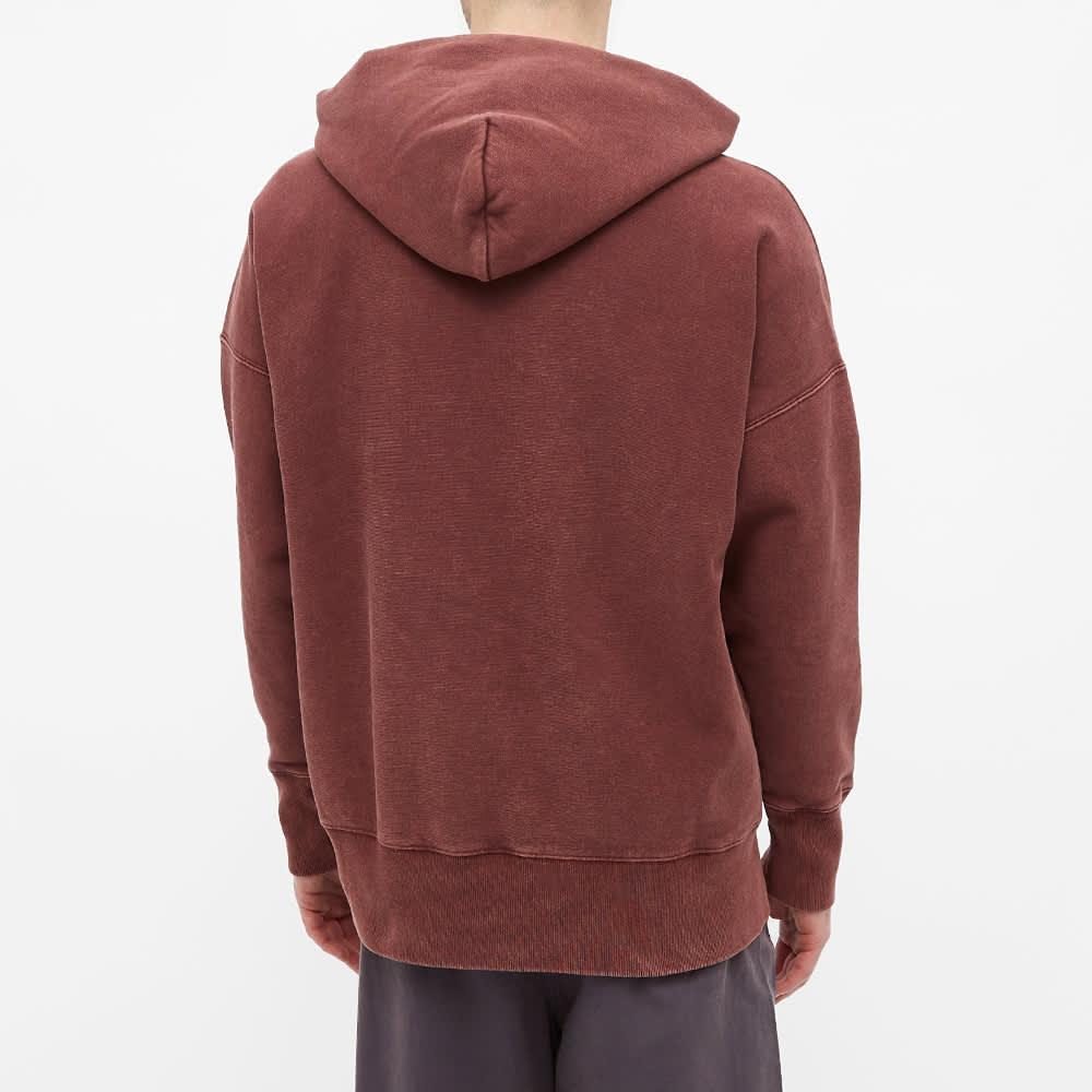 Champion Reverse Weave Garment Dyed Popover Hoody - Damson