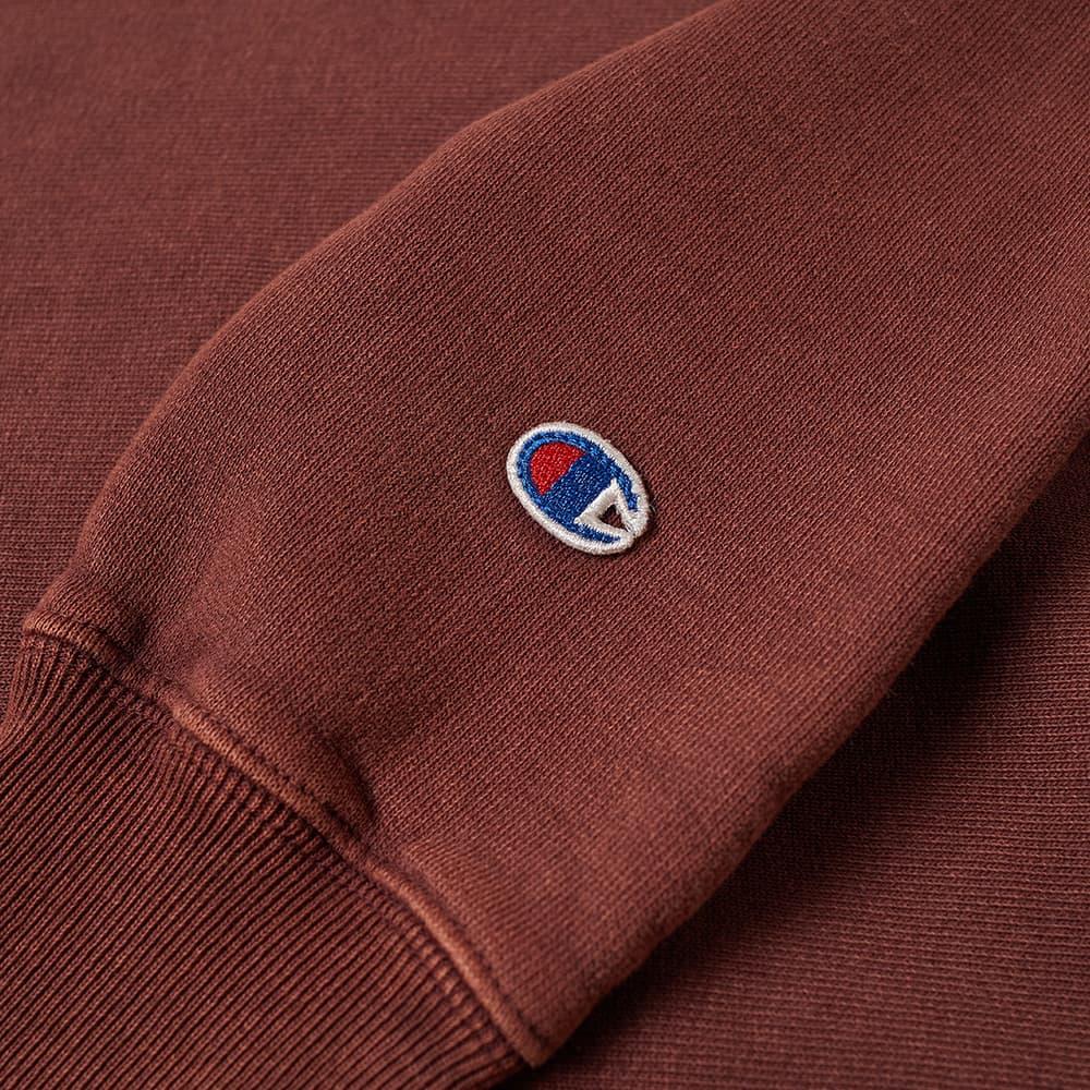 Champion Reverse Weave Garment Dyed Crew Sweat - Damson