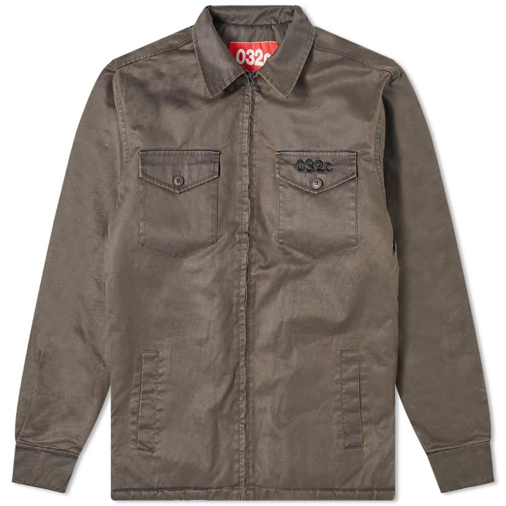 032c Wax Military Shirt Jacket - Green