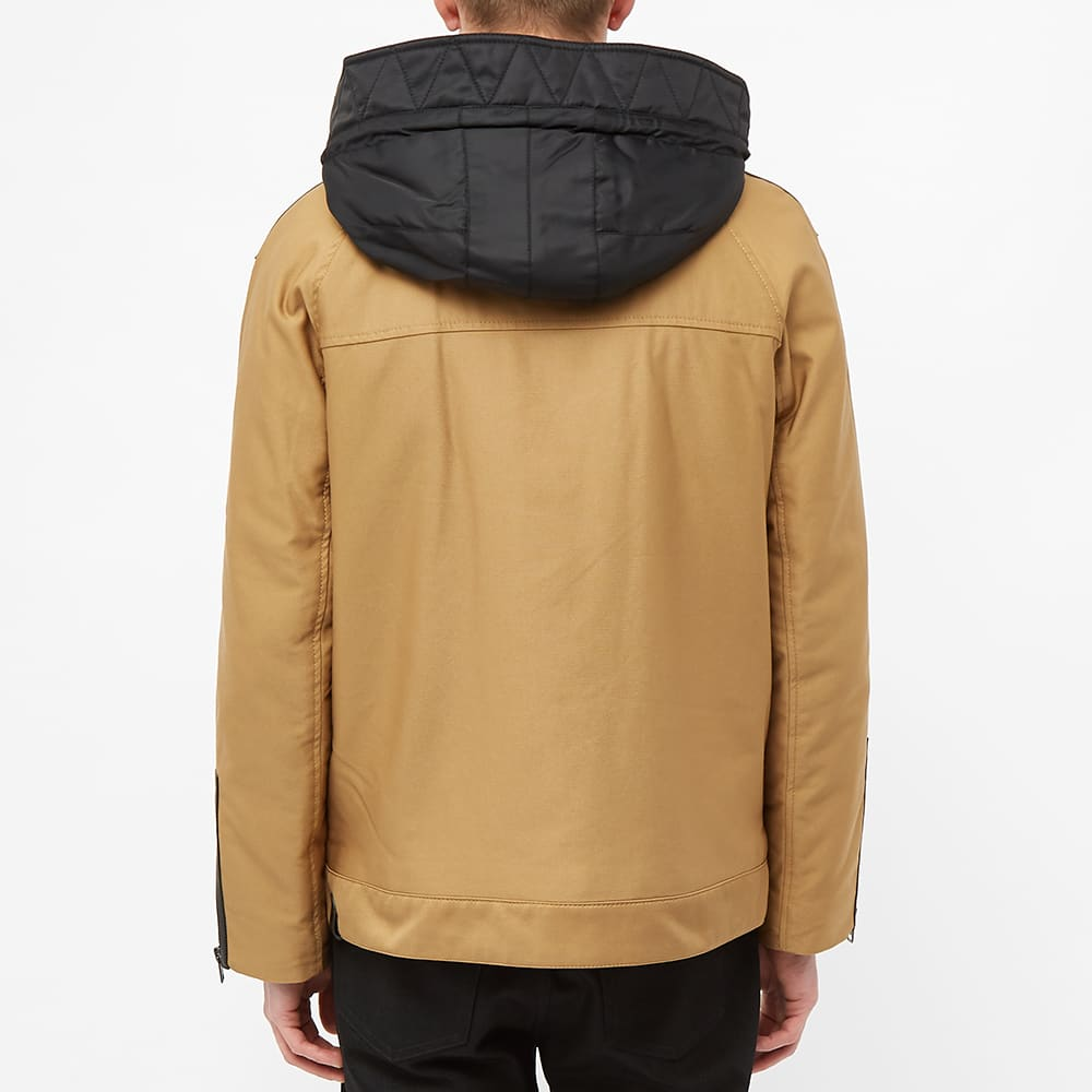 Coach Hooded Military Jacket - Khaki & Black