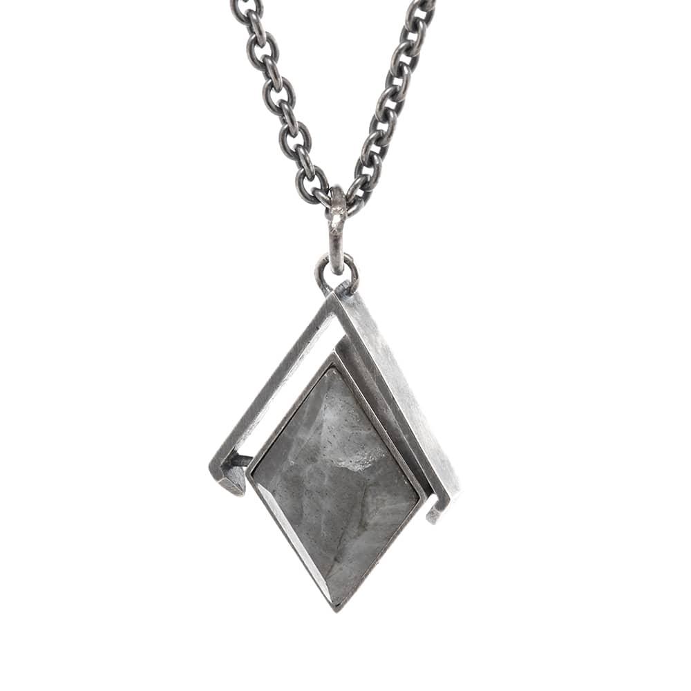 M. Cohen Diamond Spinning Necklace - Blue Tiger Eye