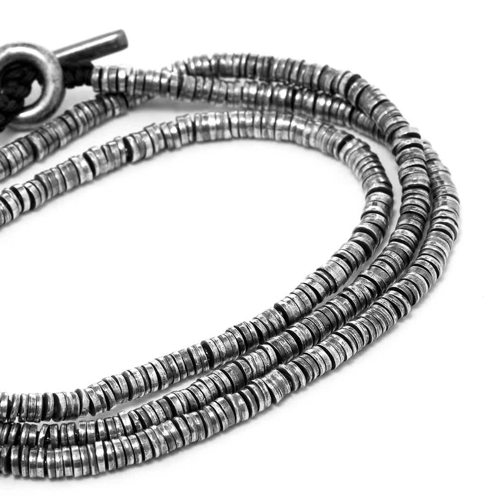 M. Cohen Mini Disc 3 Wrap Bracelet - Black