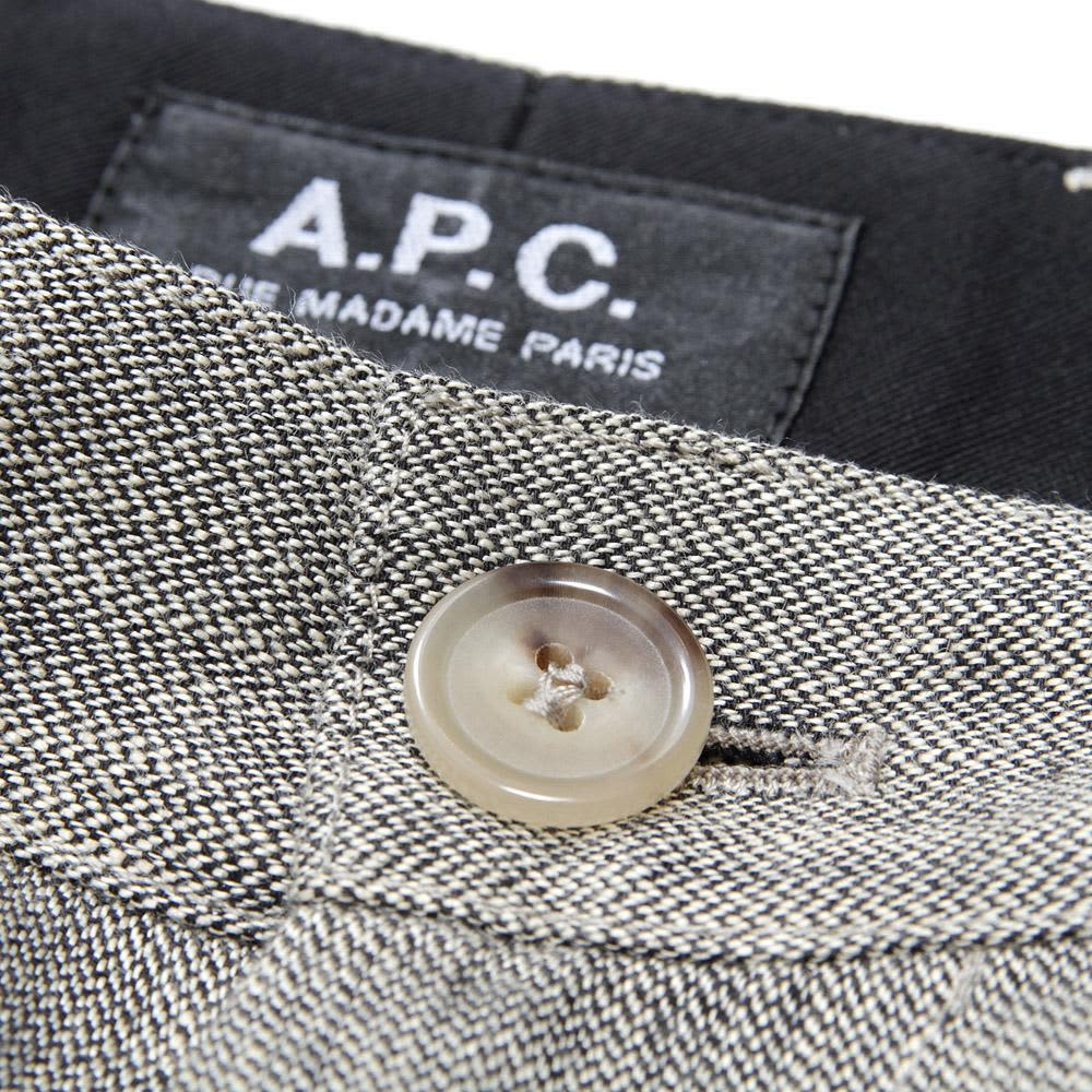 A.P.C Linen Trousers - Anthracite