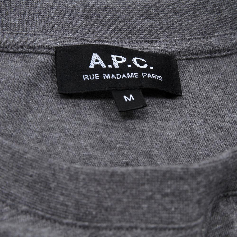 A.P.C. Sport Pocket Tee - Grey Marl