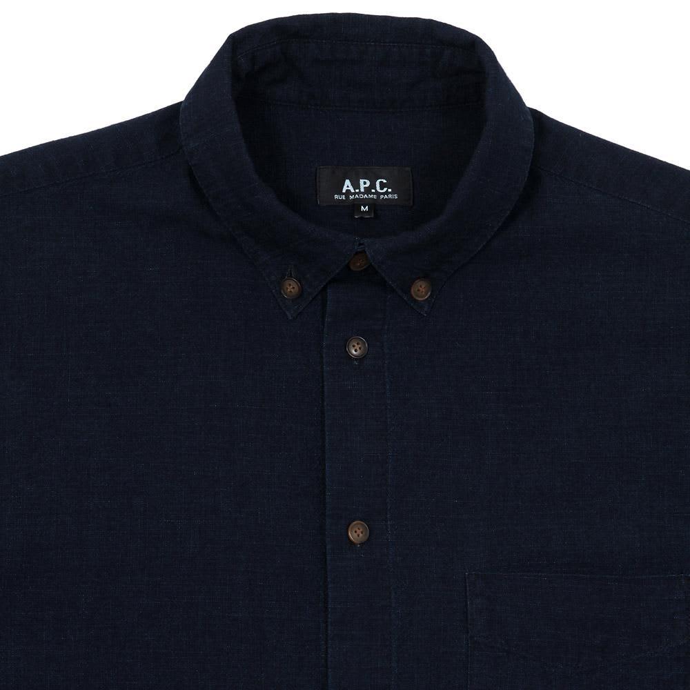 A.P.C. Vintage Button Down Shirt - Indigo