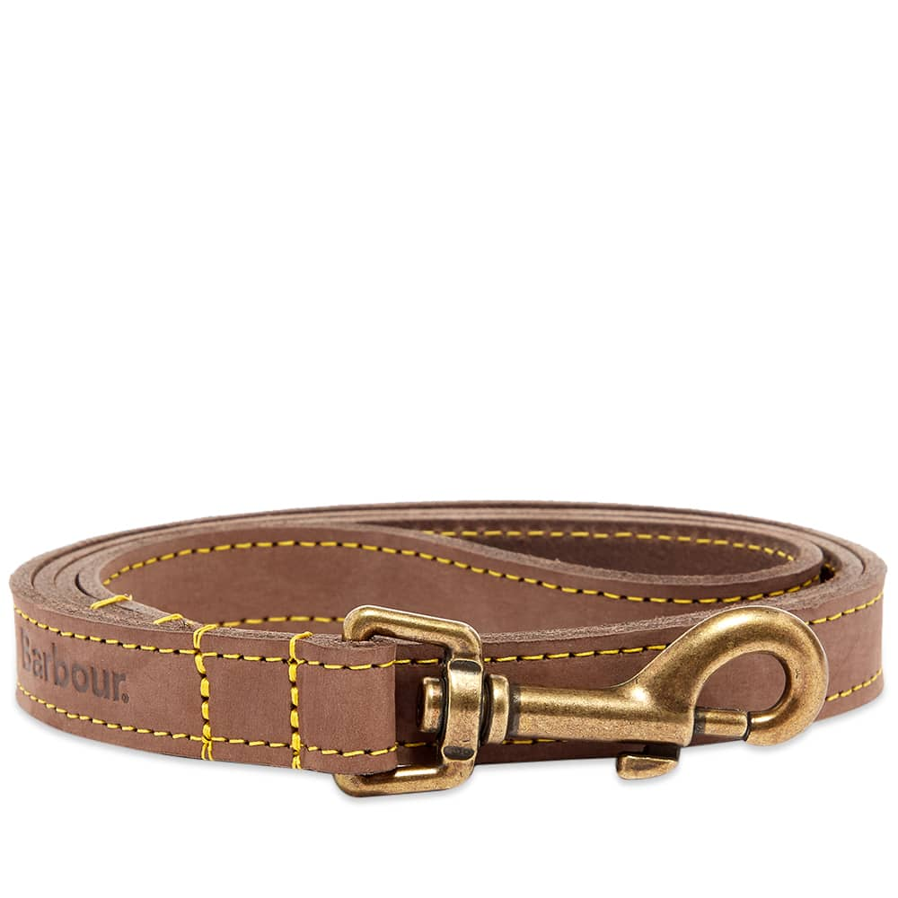 Barbour Leather Dog Lead - Brown