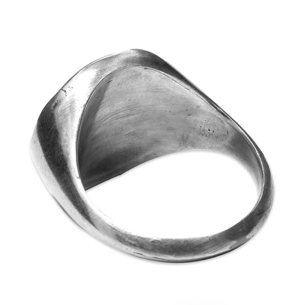 M. Cohen Vintage Brass Coin Ring - Silver