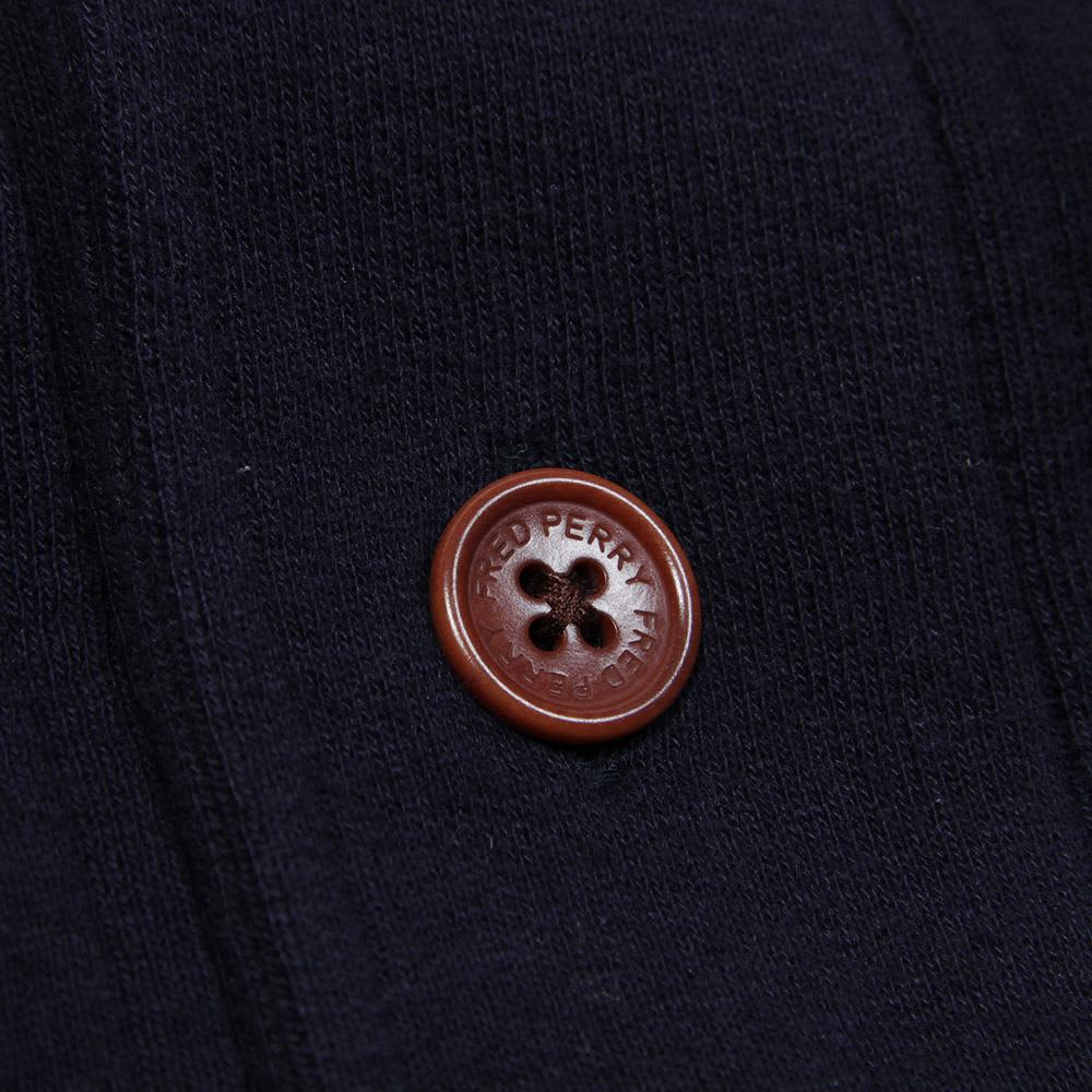 Fred Perry Shawl Collar Sweat Cardigan - Navy Marl
