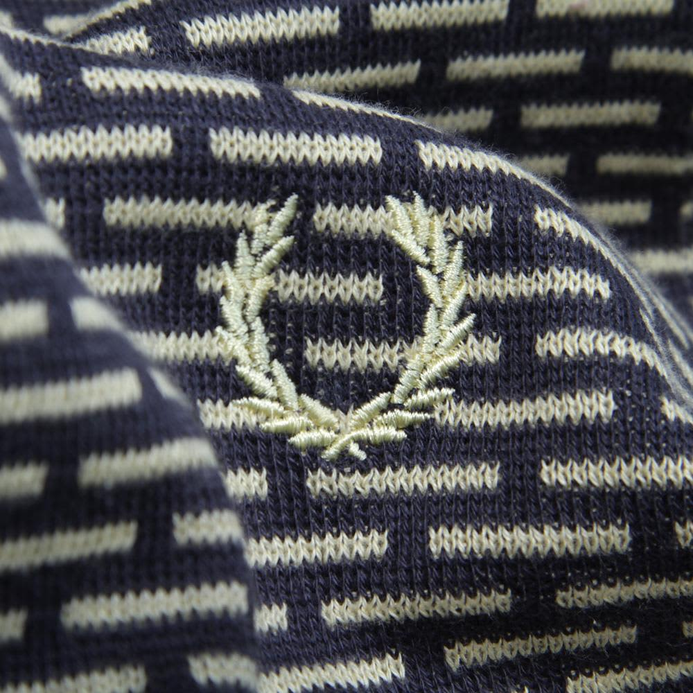 Fred Perry Industrial Dash Jacquard Sweater  - Ombre Blue