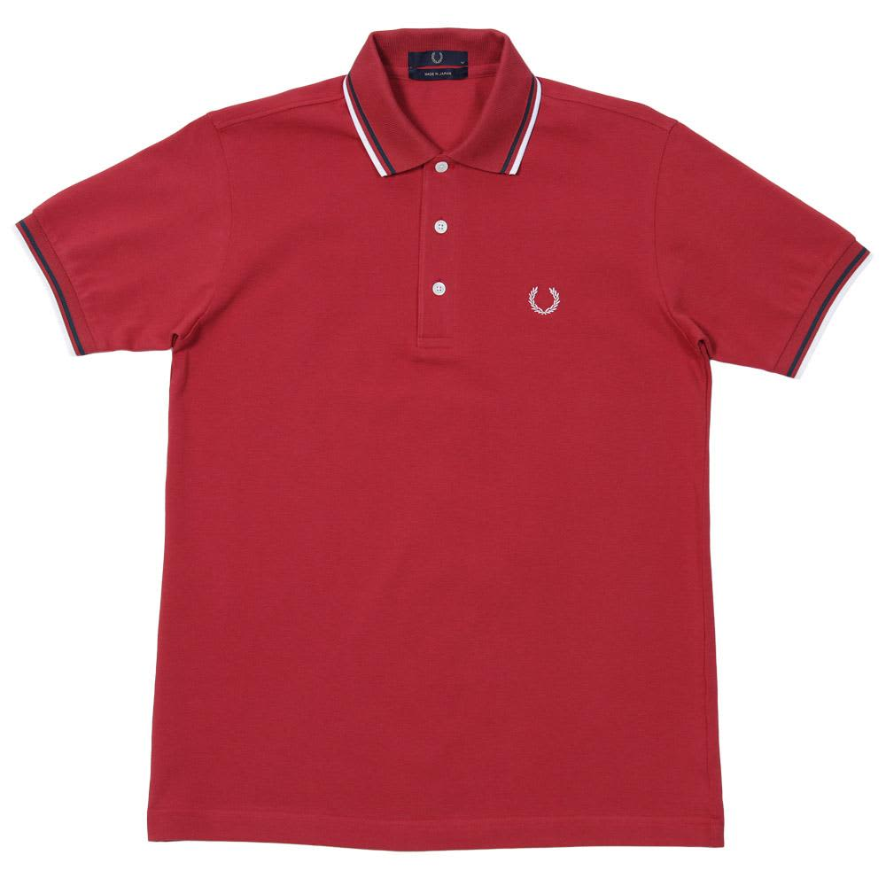 Fred Perry Japanese Tipped Polo - Pomegranate