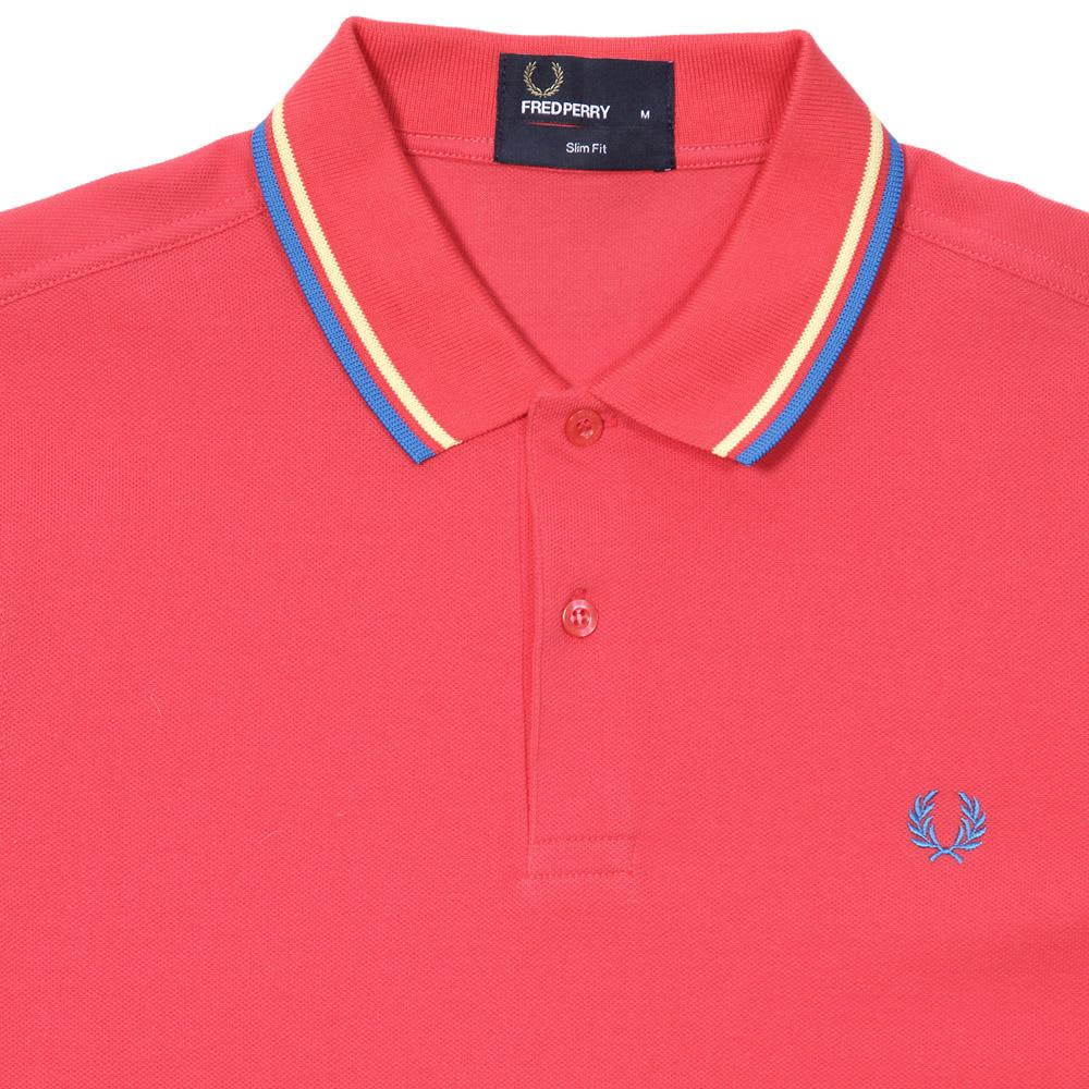 Fred Perry Slim Fit Twin Tipped Polo - Hibiscus Pink