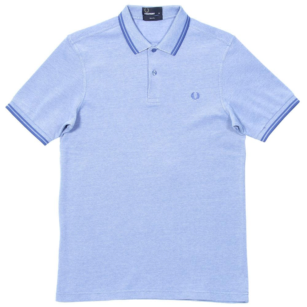 Fred Perry Slim Fit Twin Tipped Polo - Prince Blue Oxford