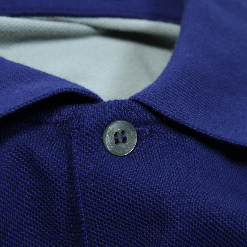 Fred Perry Warp Seam Polo - Medieval Blue