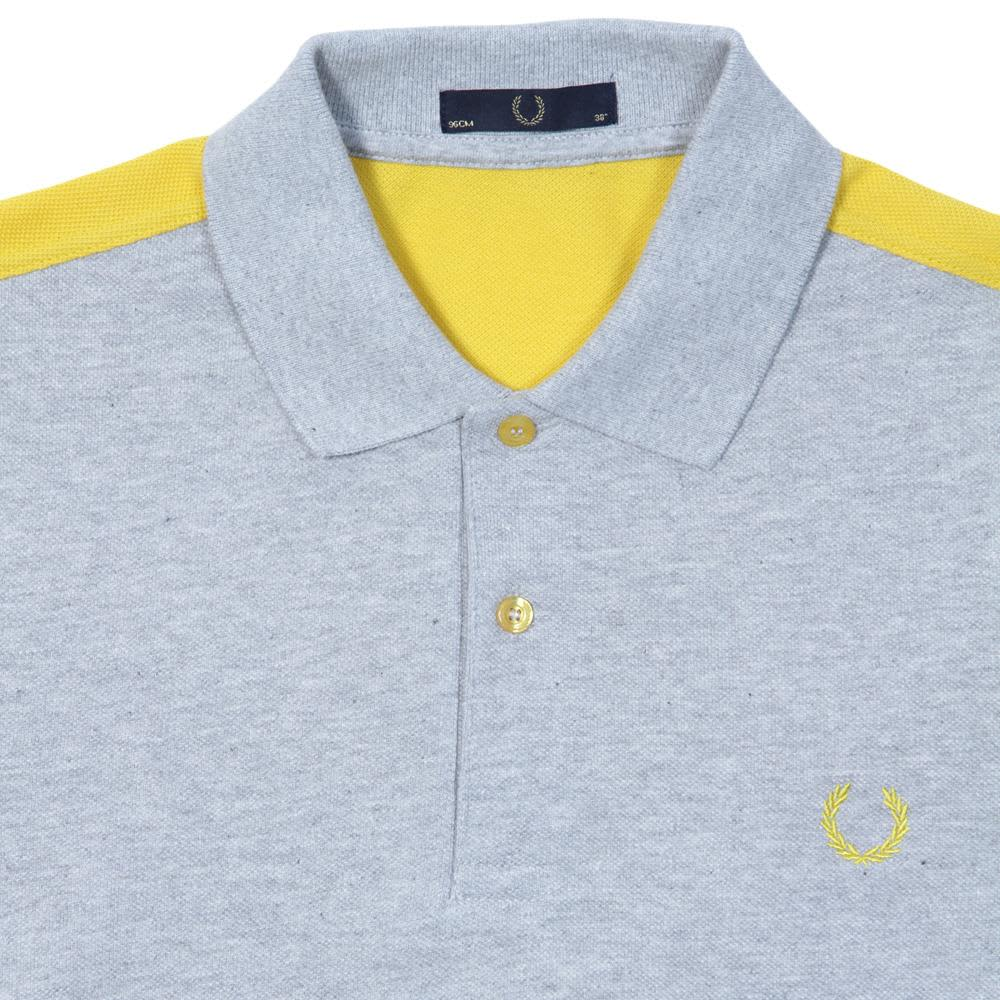 Fred Perry Warp Seam Polo - Cement Marl