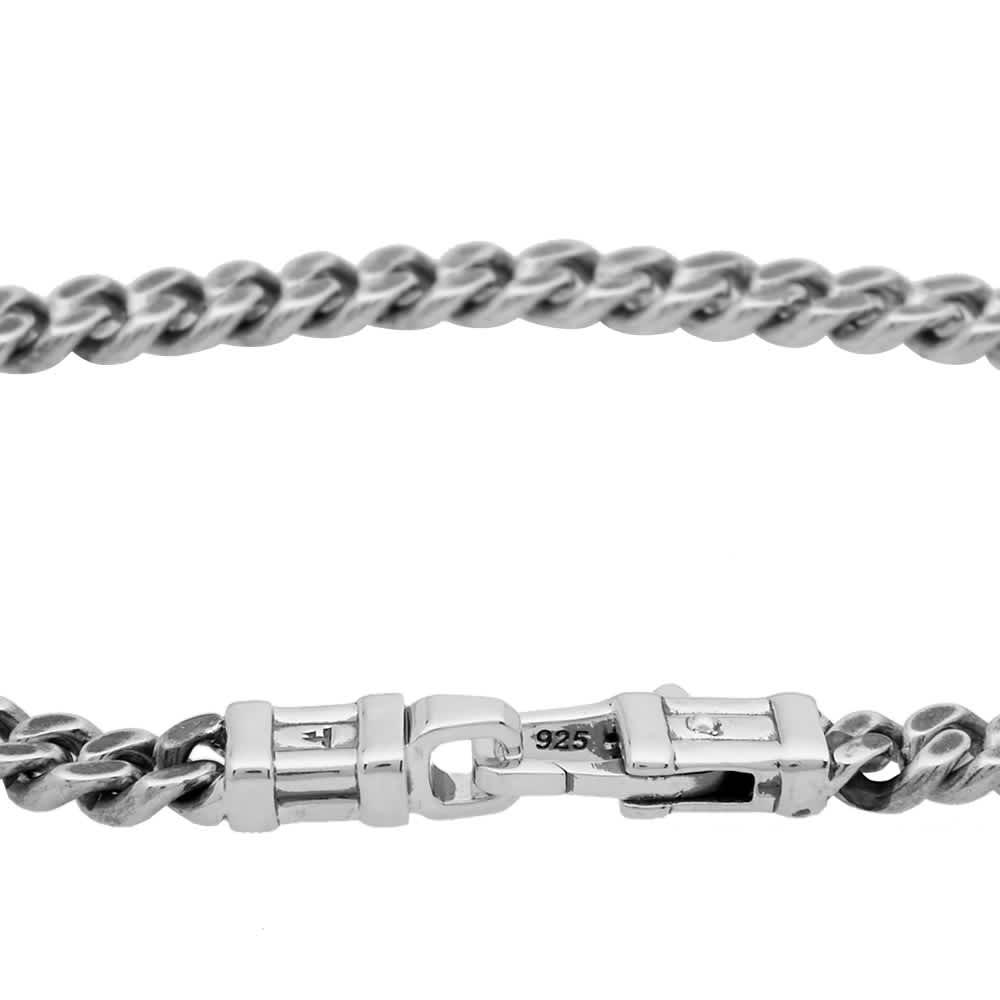 "Tom Wood 7.7"" Curb Bracelet L - Silver"