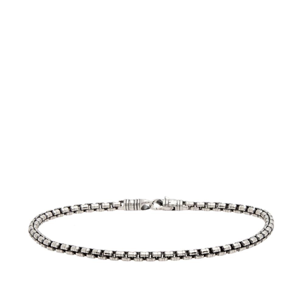 """Tom Wood 7.7"""" Venetian Single Bracelet M - Silver"""