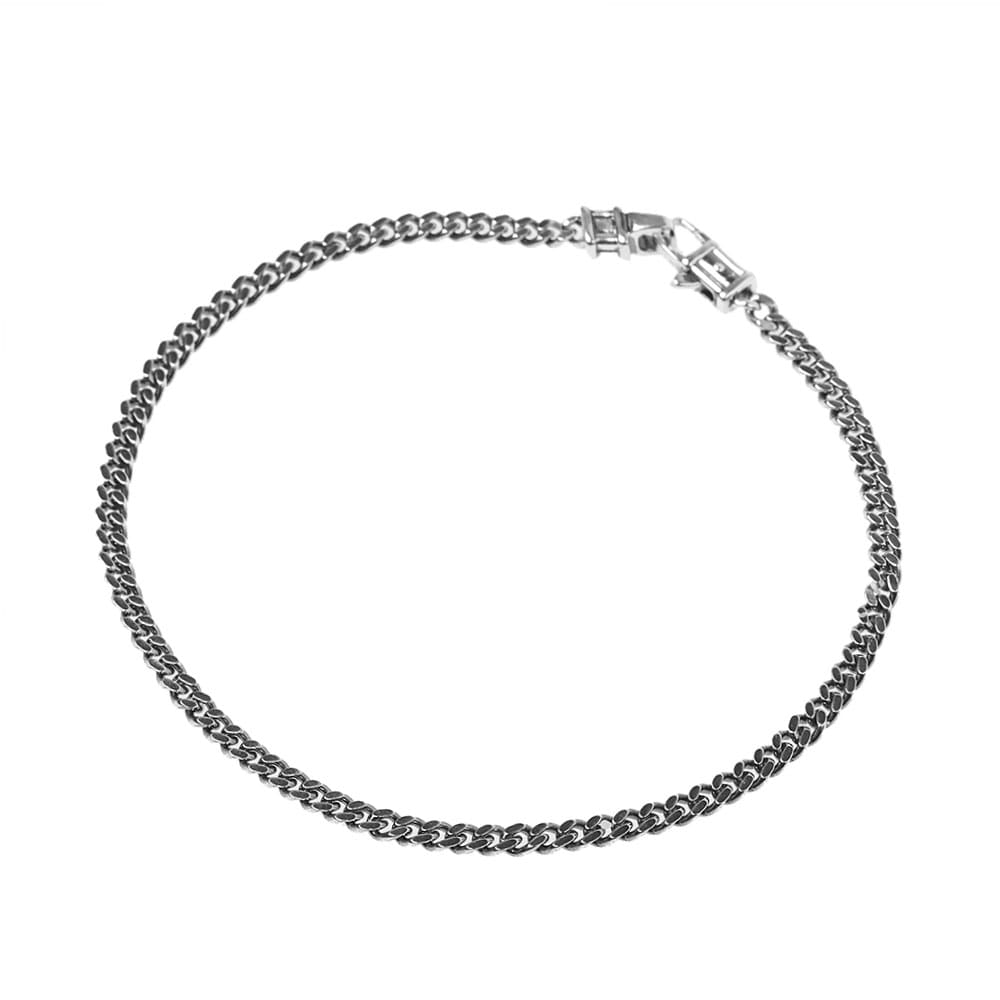 "Tom Wood 7'7"" Curb Bracelet L - Silver"