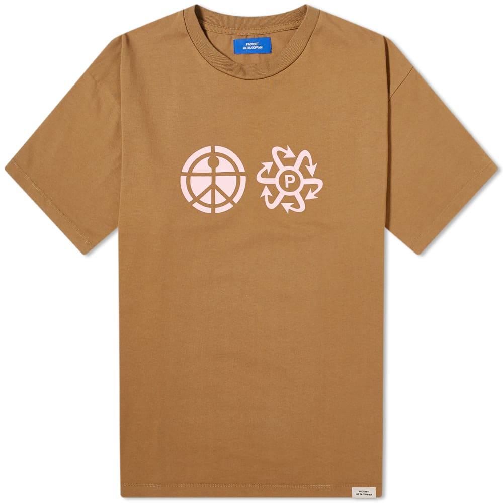 PACCBET Print Logo Tee - Brown
