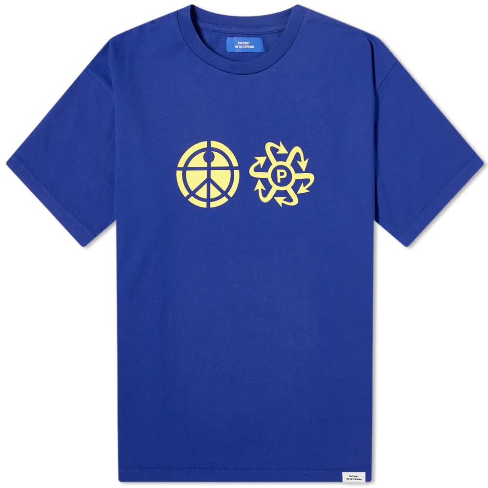 PACCBET Print Logo Tee - Navy
