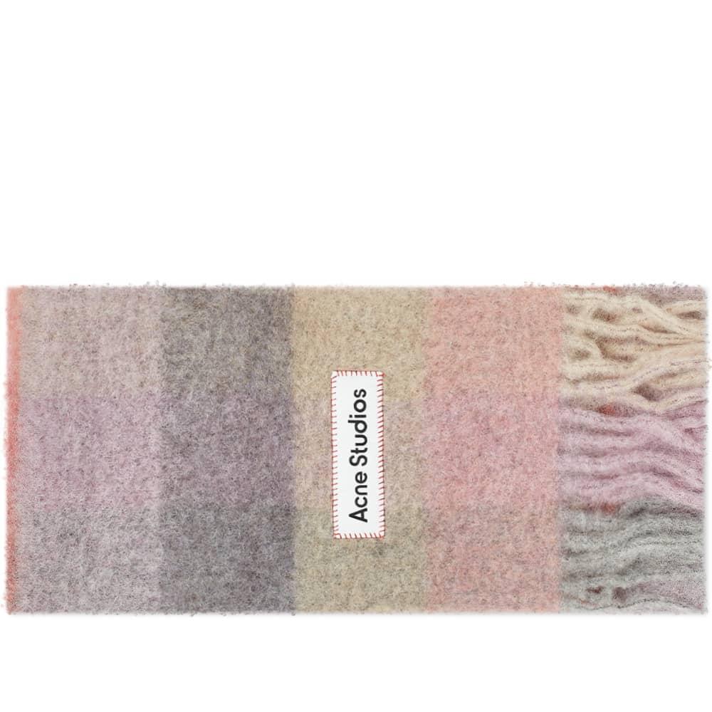 Acne Studios Vally Check Scarf - Fuchsia, Lilac & Pink