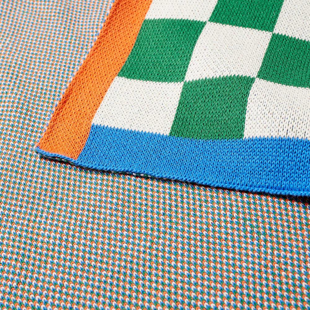 Dusen Dusen Knit Throw - Green & White Check
