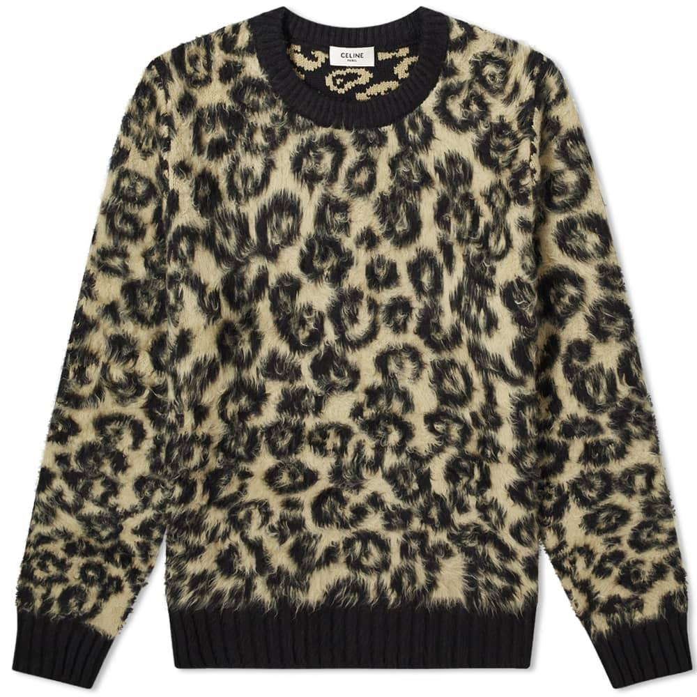 Celine Leopard Crew Sweat - Leopard