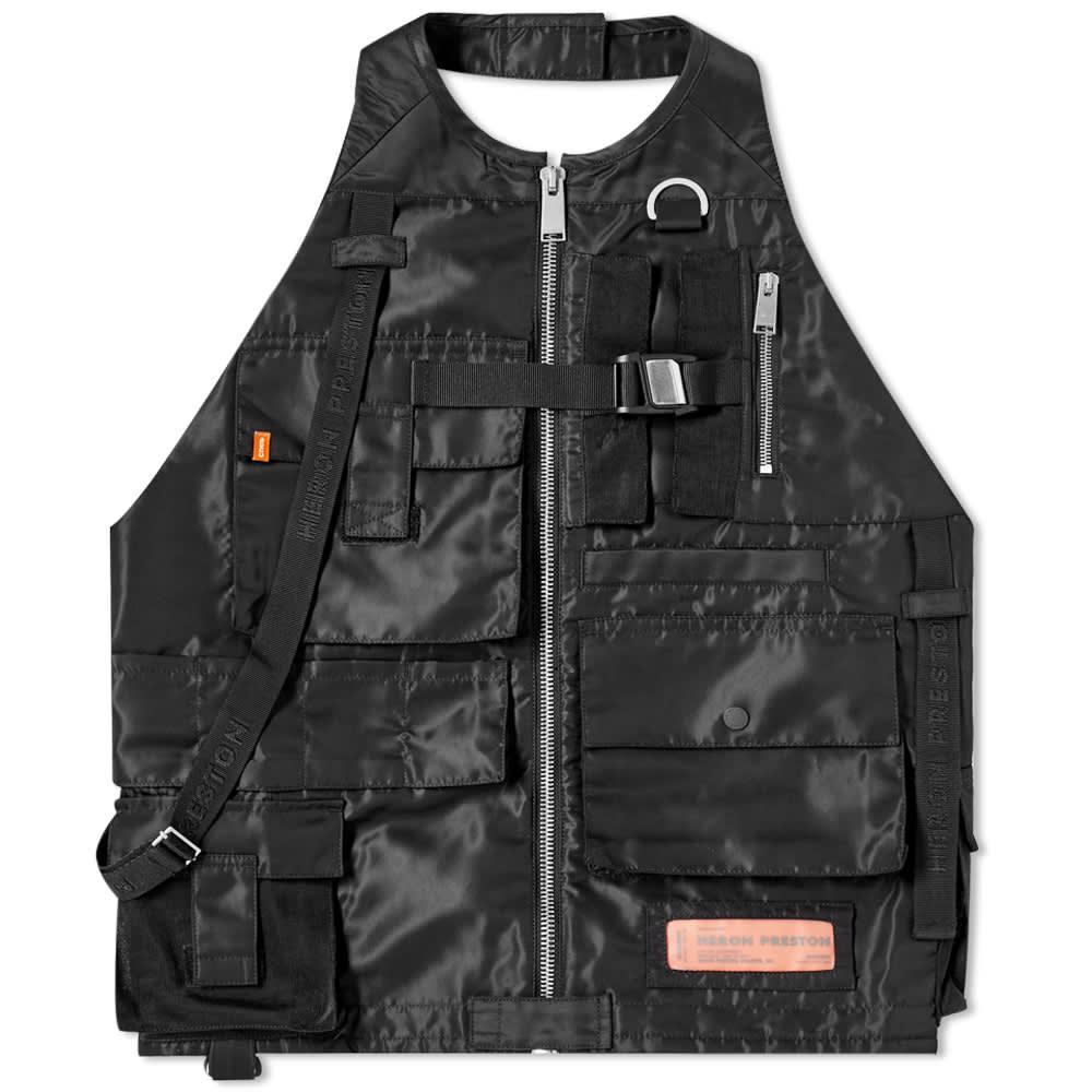 Heron Preston Nylon Multi Pockets Vest - Black