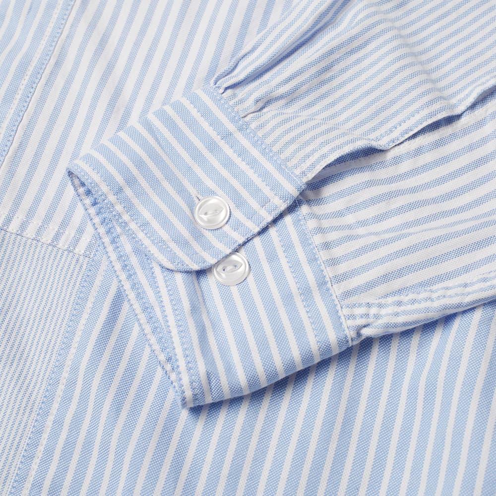 Officine Générale Tony Multi Stripe Patch Shirt - Blue & White