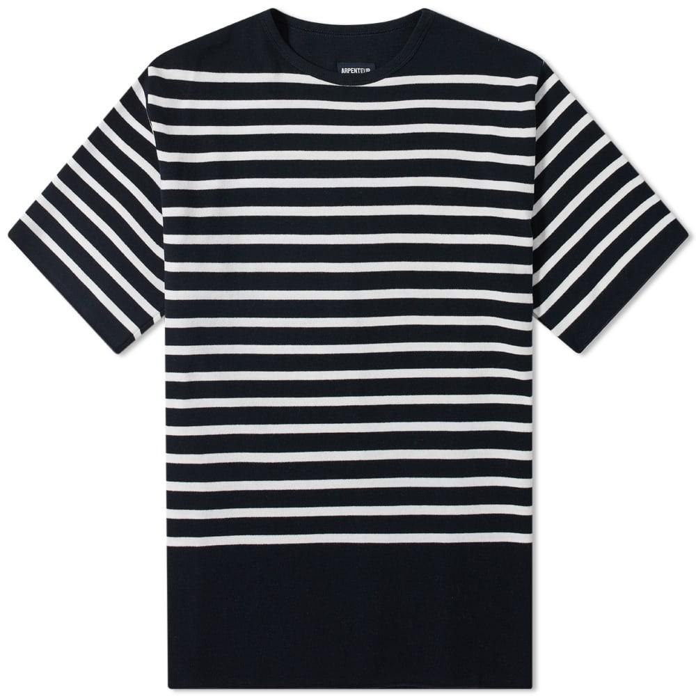 Arpenteur Pontus Nautical Stripe Tee - Navy & White Stripes