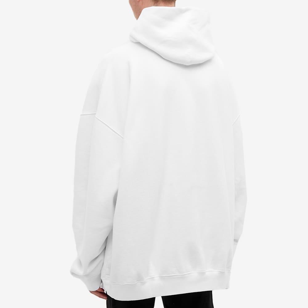 Balenciaga Venezia Print Oversized Hoody - White & Grey