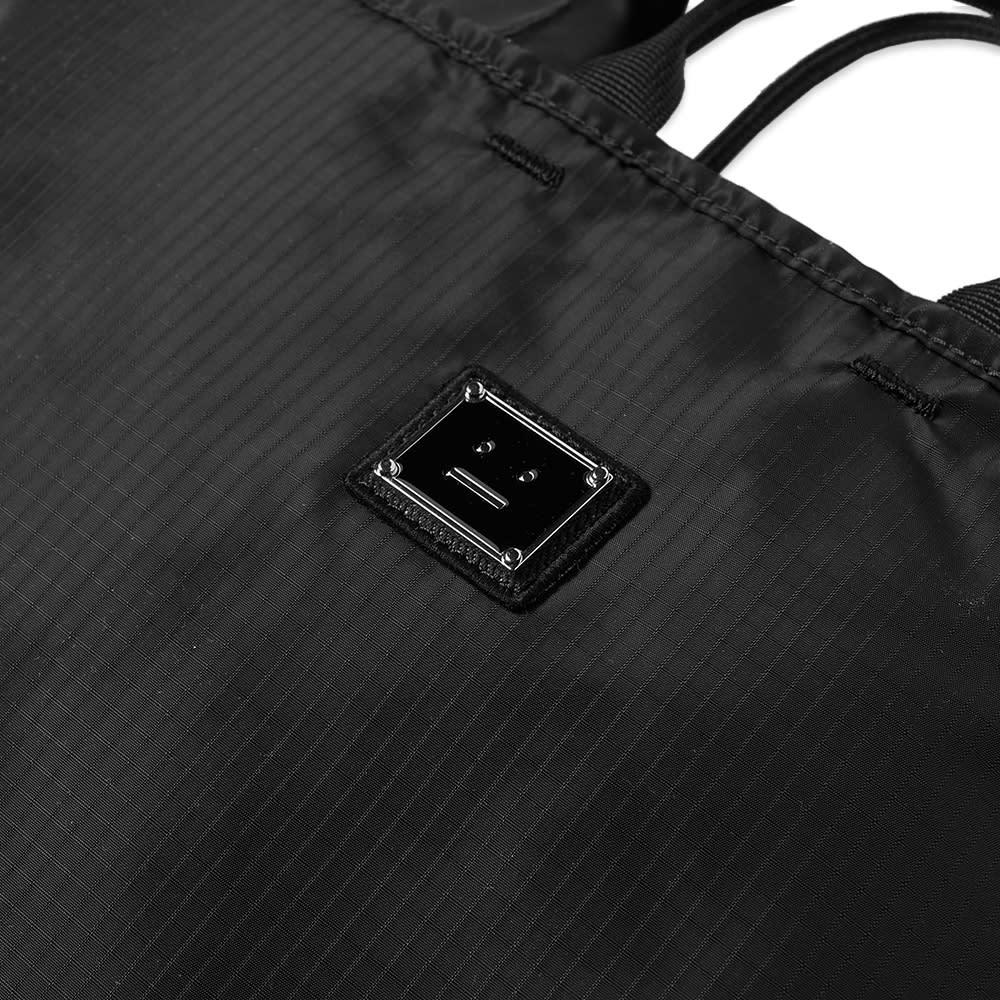 Acne Studios Awen Plaque Face Tote Bag - Black