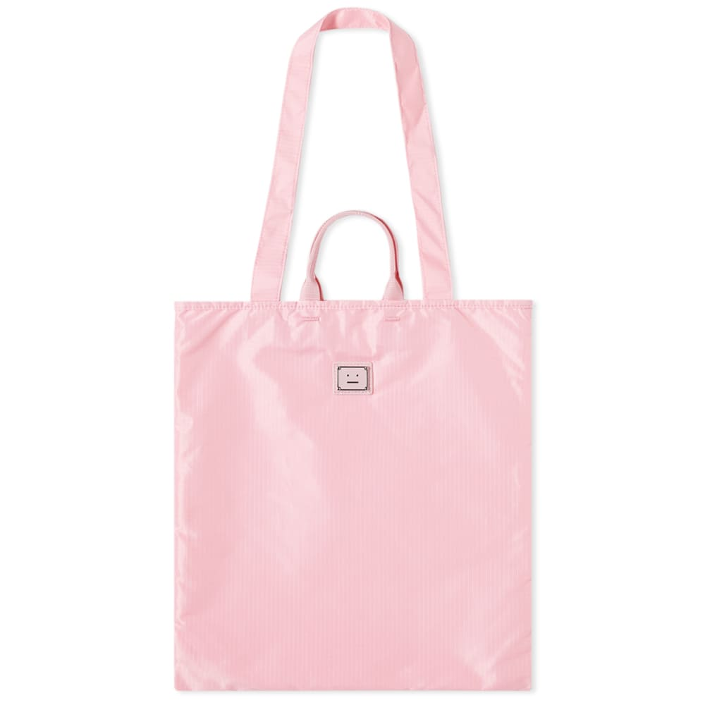 Acne Studios Awen Plaque Face Tote Bag - Bright Pink