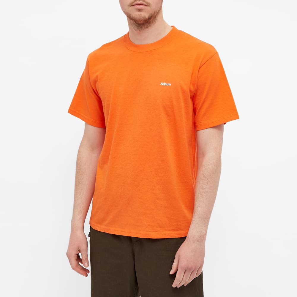 Adsum Core Logo Tee - Safety Red