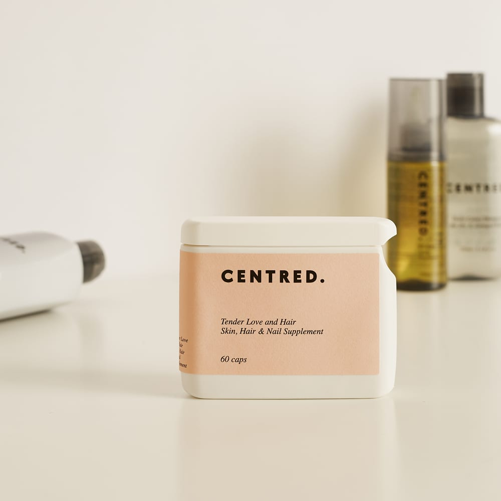 CENTRED. Tender Love And Hair Supplement - 60 Capsules