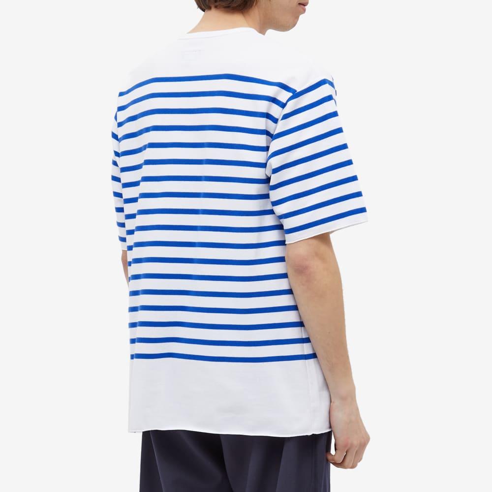 Arpenteur Pontus Nautical Stripe Tee - White & Blue Stripes