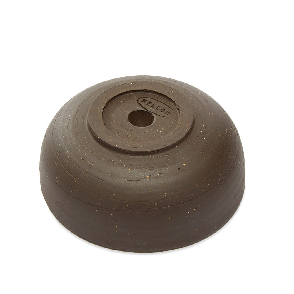 Mellow Ceramics Incense Bowl - Small - D.Brown Painted Check - Inside