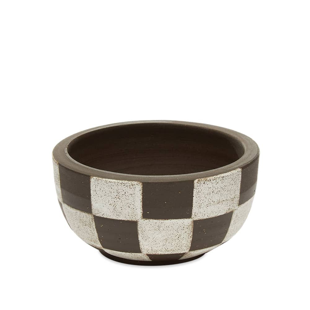 Mellow Ceramics Incense Bowl - Small - D.Brown Painted Check