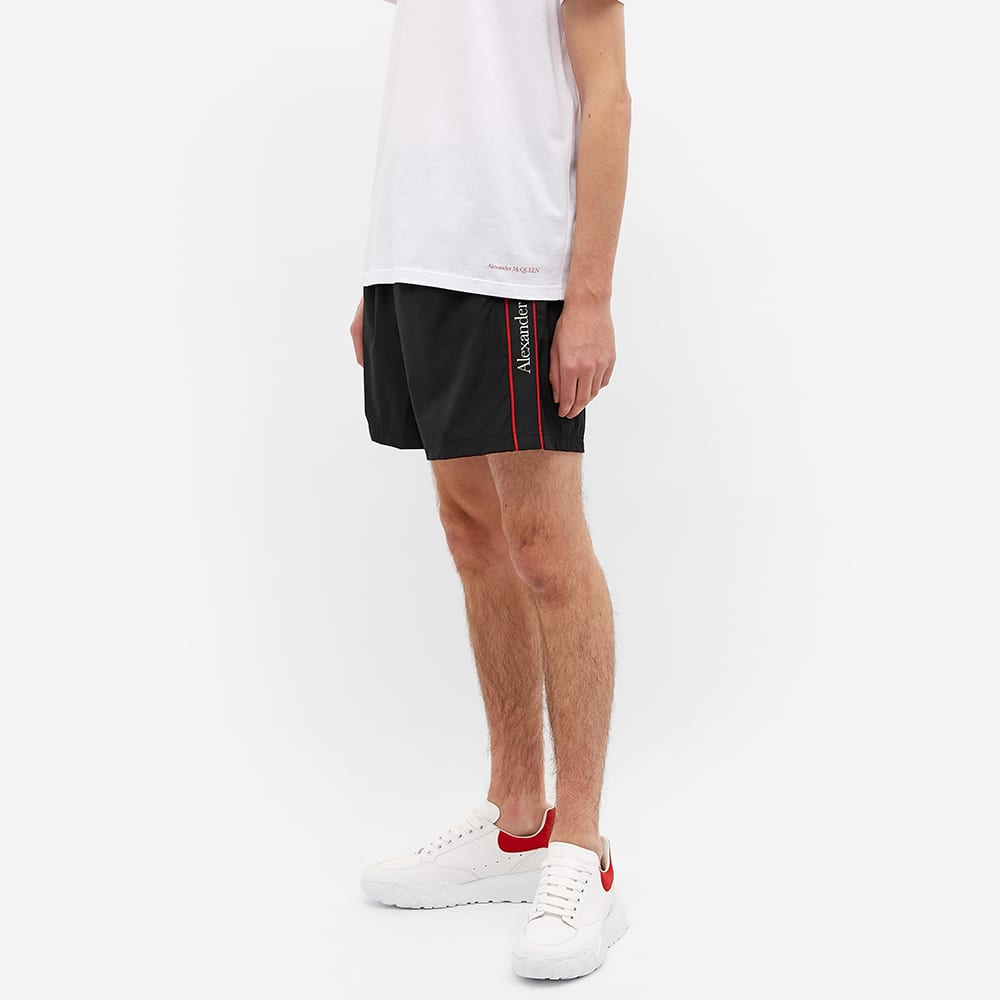 Alexander McQueen Side Stripe Swim Short - Black