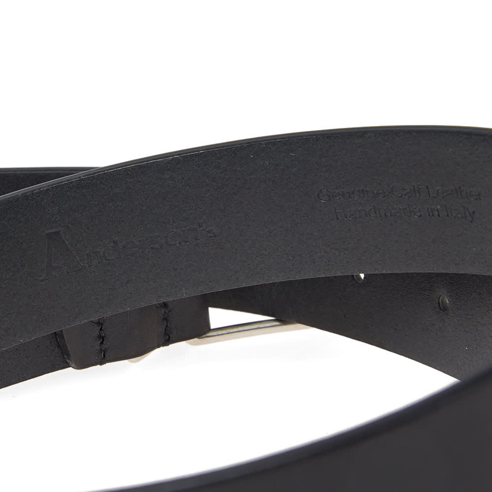 Anderson's Slim Leather Belt - Black
