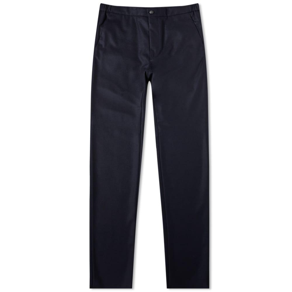 Incotex Drawstring Elasticated Waist Slim Fit Wool Trouser - Navy