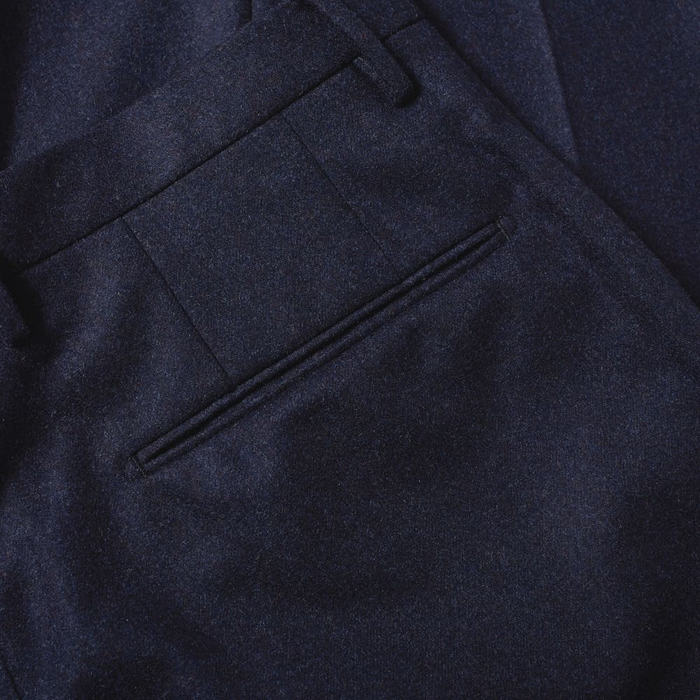 Incotex Slim Fit Wool Trouser - Dark Navy