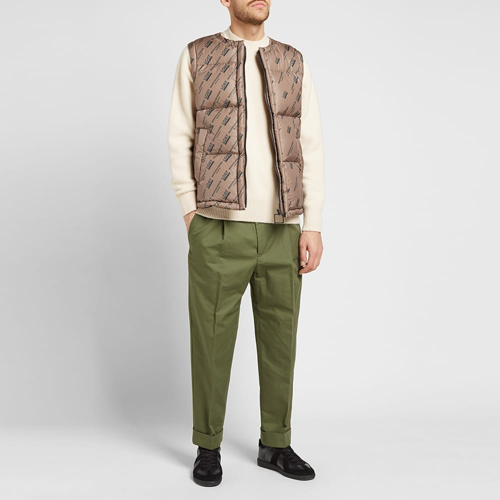 Wooyoungmi All Over Logo Gilet - Beige & Black