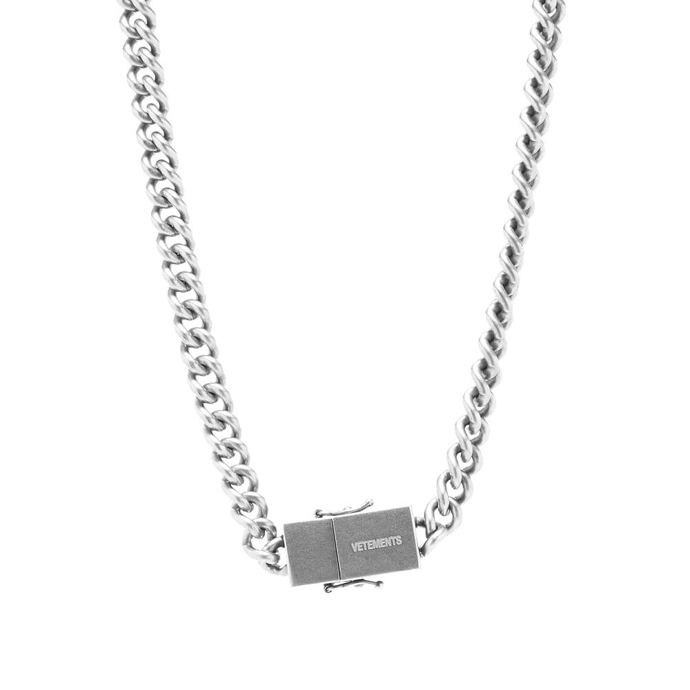 VETEMENTS USB Necklace - Silver