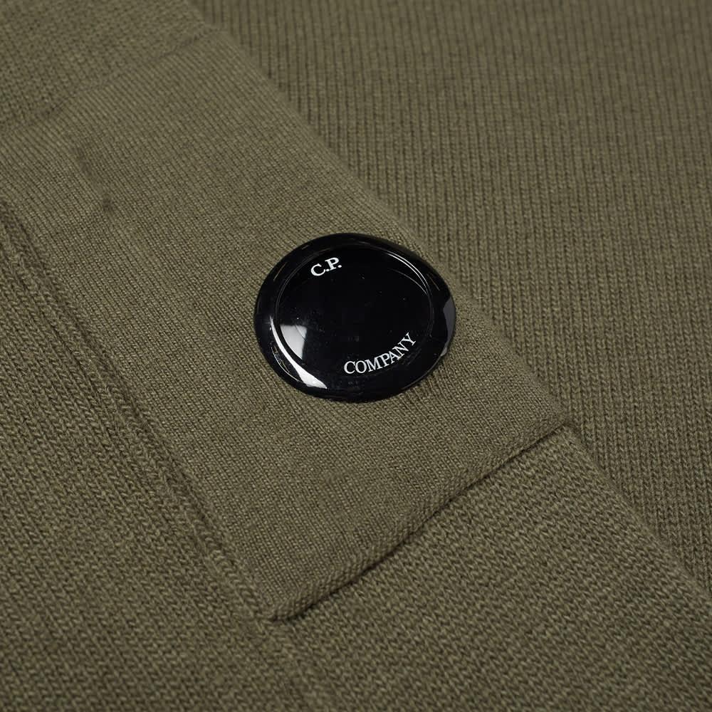 C.P. Company Arm Lens Crew Knit - Stone Grey
