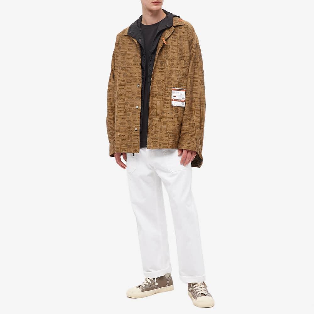 Maison MIHARA YASUHIRO Care Label Jacquard Shirt - Brown